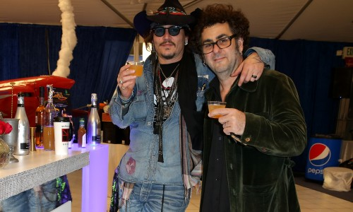 Johnny Depp at the Grammy's 2016 with my cocktails!