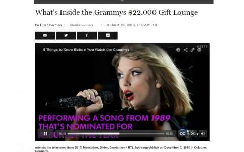 Fortune Magazine Grammy's Taylor Swift